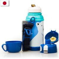 【当当海外购】日本进口CALDO 保温杯创意男女士真空不锈钢便携儿童保温壶600ml-北极熊