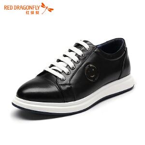 红蜻蜓男鞋 春秋新款正品真皮男日常休闲鞋透气耐磨头层牛皮皮鞋