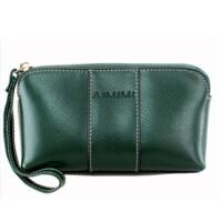 女式复古牛皮零钱包手包拉链包女士手机包手拿包小包包