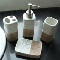 普润 陶瓷卫浴四件套 浴室洗漱卫浴家居用品卫浴套装