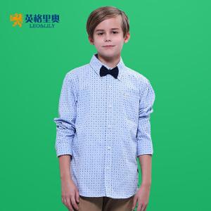 2018男童长袖秋装新款男孩休闲衬衣中大童童装翻领纯棉衬衫