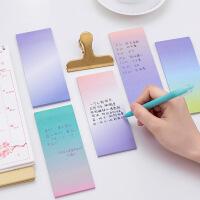 6本 韩国长款渐变可爱创意便签本 学习文具便利贴N次贴学生用