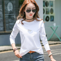 T恤 女士圆领印花长袖打底衫2020年秋季新款韩版学院风女式时尚洋气宽松显瘦女装套头衫