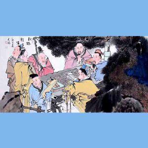 中国青年美术家协会常务理事,中国扇子艺术学会会员,中国山水画院专业画家,山东美术家协会会员,国家一级美术师高云鹏(松林会集)