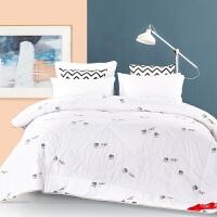 抗菌冬季混合羊毛被子春秋加厚被芯单人双人床褥床上用品