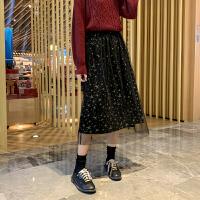 毛菇小象毛衣女秋冬外穿套头2064新款宽松圆领显瘦绑带毛针织衫