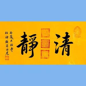 中国佛教协会副会长,中国佛教协会西藏分会第十一届理事会会长十三届全国政协委员班禅额尔德尼确吉杰布(清净