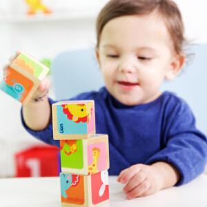 【当当自营】费雪 Fisher Price 益智六面画 四个大方块六种动物图案周岁宝宝生日礼物 FP1001A