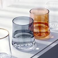 光一可爱螺纹型玻璃杯子耐热家用女简约ins风网红牛奶可乐柠檬水杯男