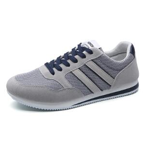 新款男鞋透气休闲运动鞋韩版潮流板鞋男百搭网面网布鞋跑步鞋