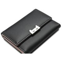 钱包女短款2018款学生韩版可爱迷你折叠薄款小钱夹零钱包