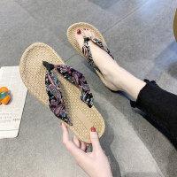 外穿时尚海边人字拖鞋女 新款百搭女士凉鞋 ins潮平底防滑沙滩鞋