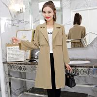 风衣 女士西装领九分袖绑带中长款风衣2020年秋季新款韩版时尚潮流女式修身显瘦女装外套