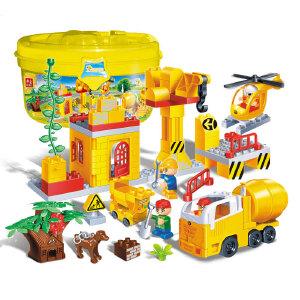 【当当自营】邦宝大颗粒新品 益智教玩具拼插积木 工程系列 建筑工地9667