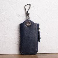 男女式真皮拉链钥匙包头层牛皮大容量汽车遥控器门禁卡锁匙
