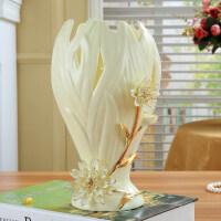 欧式陶瓷花瓶富贵竹百合水培摆设陶瓷台面花瓶简约现代家居摆件