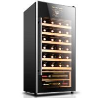 红酒柜恒温酒柜电子冷藏柜家用冰吧展示柜 黑色