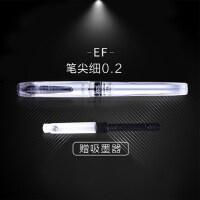 日本白金钢笔学生用练字笔记PPQ-300 EF尖 透明细墨水笔万年笔