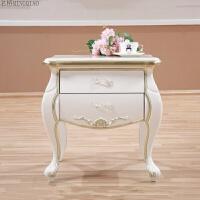 实木家具 美式新古典床头柜 欧式实木床边柜样板房床头柜 整装
