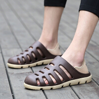 韩版时尚潮流男鞋子沙滩洞洞鞋男士防滑拖鞋透气两用凉鞋