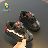 【2.5折价60元】芭芭鸭儿童棉鞋女童鞋学步鞋冬鞋保暖加绒宝宝鞋1-3岁男童二棉鞋暖