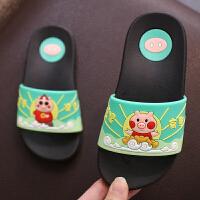 �和�拖鞋夏男童防滑�底�鐾闲�一家三口�H子小孩卡通居家浴室拖鞋
