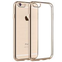 坚达 手机壳 电镀软壳/手机套/透明保护壳  适用于iphone6 plus电镀边软壳