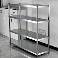 不锈钢货架家用厨房置物架微波炉架菜架4层收纳整理烤箱架储物3层货架