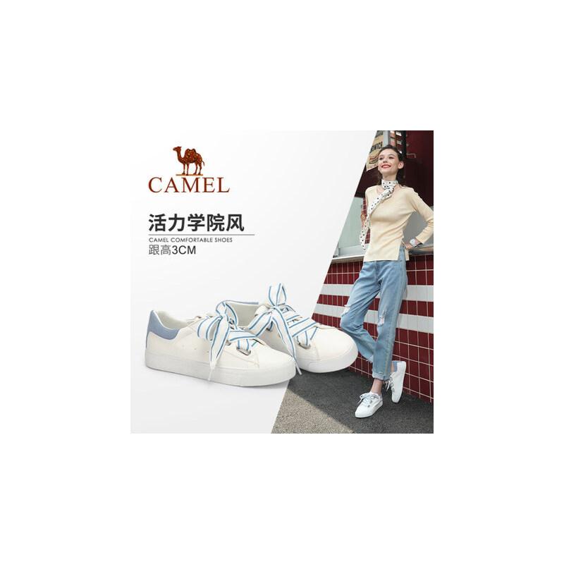 骆驼女鞋 2018新款秋甜美学院风时尚街拍女单鞋韩版小白鞋女