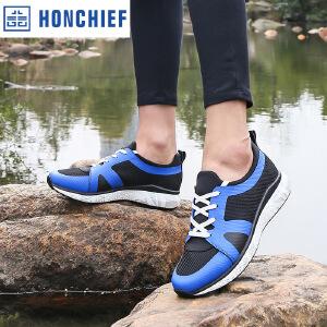 HONCHIEF 红蜻蜓旗下 2017夏季新款正品休闲运动真皮时尚潮流舒适男鞋