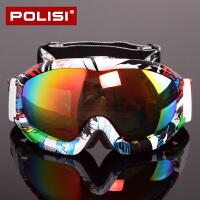 滑雪镜双层偏光男女款户外登山滑雪眼镜近视雪镜