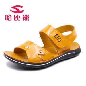 【每满100减50】哈比熊童鞋儿童凉鞋男童夏季韩版沙滩鞋儿童鞋子小中大童宝宝男孩