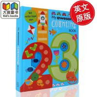 英文原版 儿童启蒙数数书My Awesome Counting Book1-20 /My Awesome Alphab