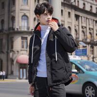 棉衣男冬季外套2018新款韩版棉袄加厚羽绒棉面包潮DS295连帽