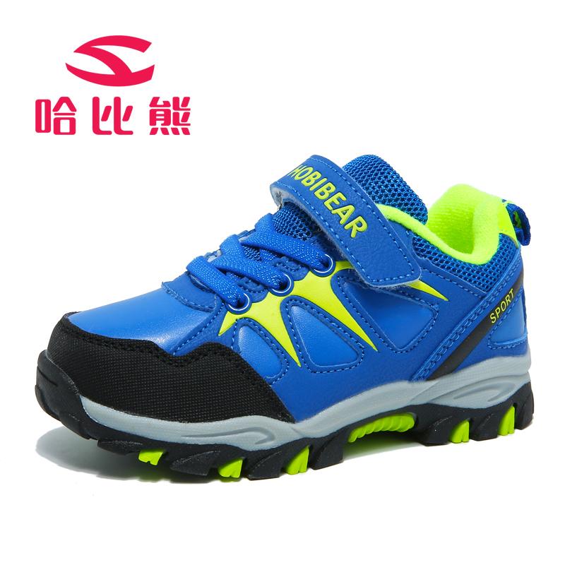 哈比熊童鞋春秋新款男童女童中大童学生鞋运动鞋休闲鞋