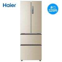 Haier海尔 BCD-329WDVL 329升法式多门双变频节能冰箱 四门家用无霜冰箱
