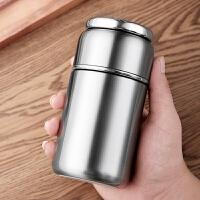 光一茶水分离保温杯男潮流创意个性不锈钢水杯子便携车载茶杯水壶简约