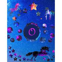 【预订】Starry Unicorns Notebook Monogram Series O: College Rule