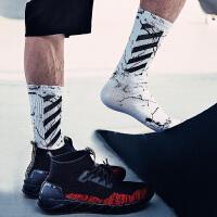 袜子男中筒袜春秋潮街头酷袜高帮个性运动滑板袜男女长袜子