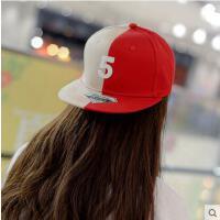 帽子 嘻哈帽 棒球帽 韩版女士帽子遮阳防晒帽字母5拼色棒球帽男士嘻哈街舞滑板帽