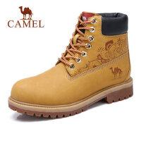 camel骆驼男鞋 秋季新款男鞋硬朗时尚高帮工装鞋牛皮潮休闲马丁靴