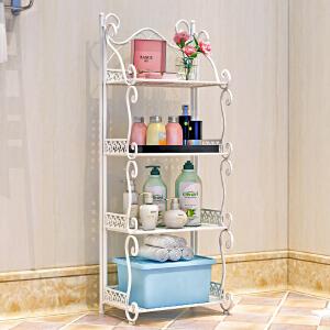 亚思特铁艺浴室置物架 落地卫生间脸盆架 洗手间厨房收纳储物架层架Z674
