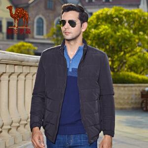 骆驼男装棉衣 冬季新款男士立领拉链商务休闲纯色棉服男外套