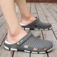 凉拖鞋男夏洞洞鞋男士凉鞋男士拖鞋防滑沙滩鞋男凉鞋男潮