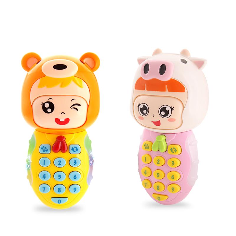变脸音乐手机遥控器玩具小孩0-1岁八个月宝宝玩具儿童电话