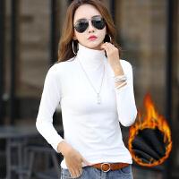 打底衫 女士高领加绒长袖保暖T恤2020年冬季新款韩版时尚潮流女式休闲洋气女装套头衫
