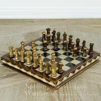 进口象棋树脂摆件 美式乡村复古家居桌面摆设饰品 创意礼物