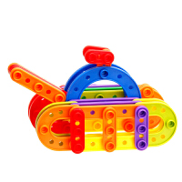 构建积木塑料拼插儿童拼装纽扣玩具宝宝玩具3岁以上 构建积木160粒桶装