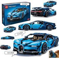 LEGO �犯�42083科技�C械�M 布加迪威��超�跑�模型 拼插�e木玩具