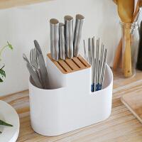 日本SPSAUCE刀架置物架 家用多功能刀座菜刀筷子厨房用品收纳架